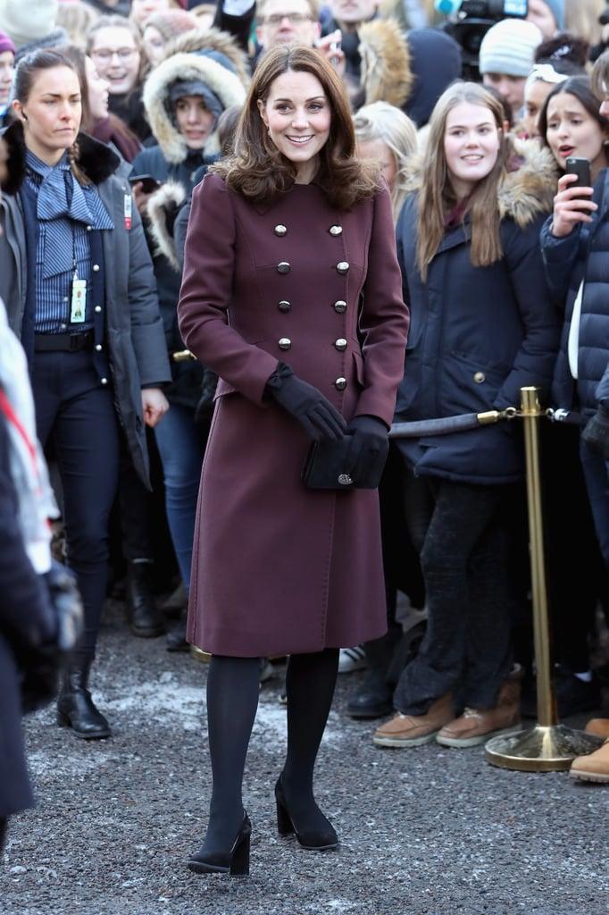 Kate Middleton Dolce & Gabbana Coat in Norway Feb 2018