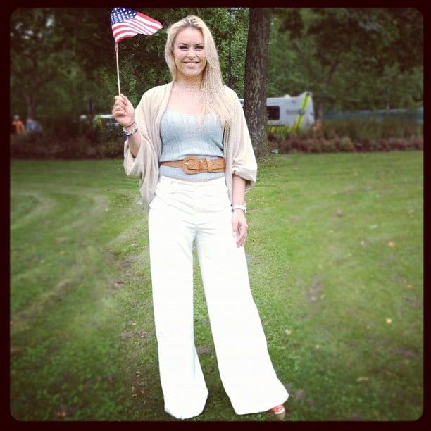 Lindsey Vonn showed her American pride. Source: Instagram user lindseyvonn
