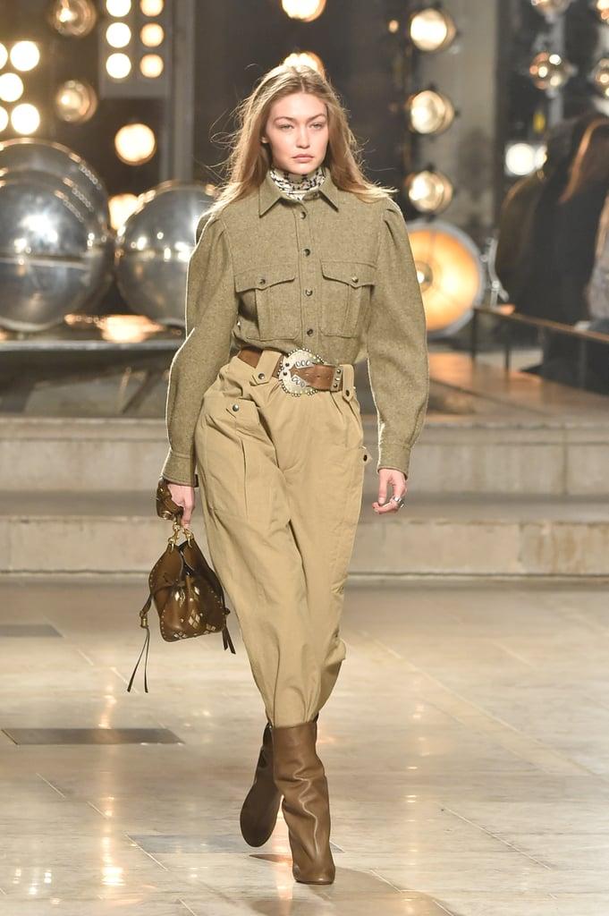 f0e1e4fe24b Gigi Hadid at Isabel Marant Fall 2019 | Gigi Hadid at Fashion Week ...