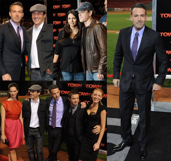 Ben Affleck, Matt Damon, Blake Lively at the Boston Premiere of The Town
