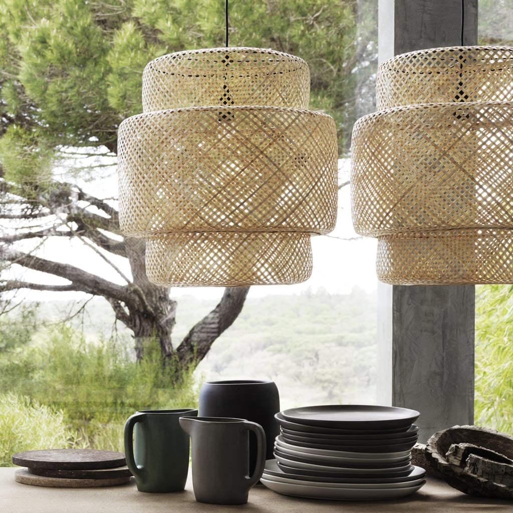 Bamboo lattice pendant lights 60 each are a refreshing break from ikea u - Ikea luminaires suspensions ...