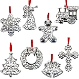 Lenox Sparkle and Scroll Holiday / Christmas Ornaments