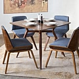Blue Midcentury Joel Upholstered Dining Chairs