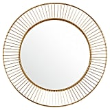 Round Iron Circle Metal Mirror