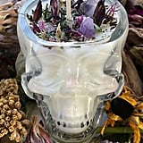 Natures Court Skull Candle