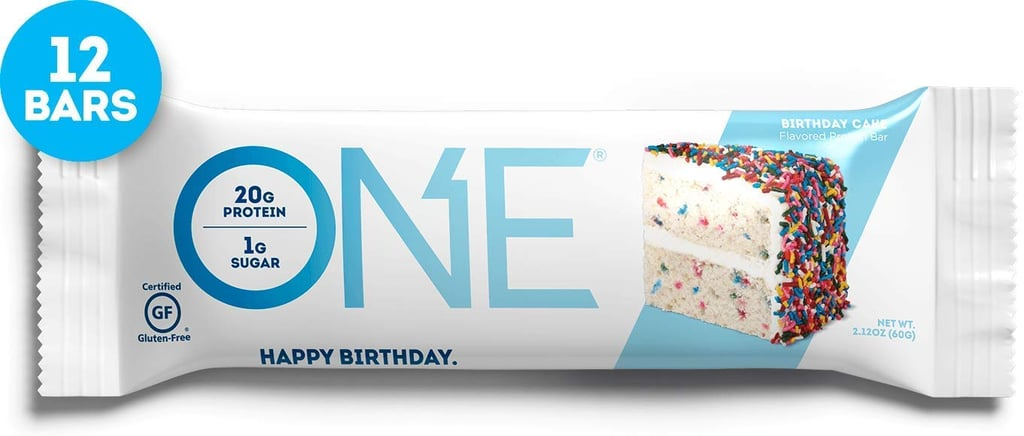 One Protein Bar in Birthday Cake