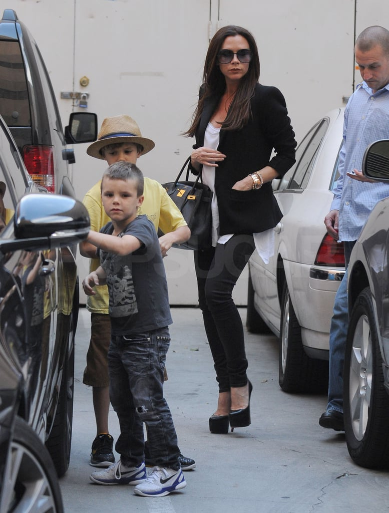 Victoria Beckham Shares Shopping and Kisses With Her Little Romeo