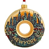 Holiday Lane Glass New York City Donut Ornament