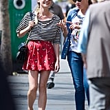 Diane Kruger was all smiles as she chatted with a friend in Paris.