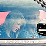 The couple took their romance on the road in late April, when they were spotted riding in a car and laughing together in LA.