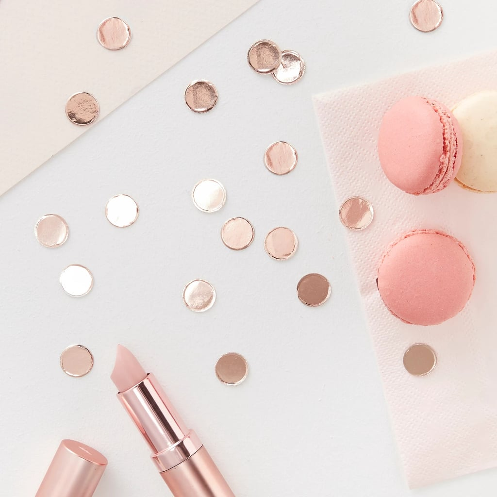 Table Scatter Confetti Rose Gold