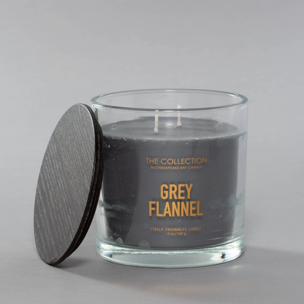 Chesapeake Bay Candle Grey Flannel Glass Jar Candle