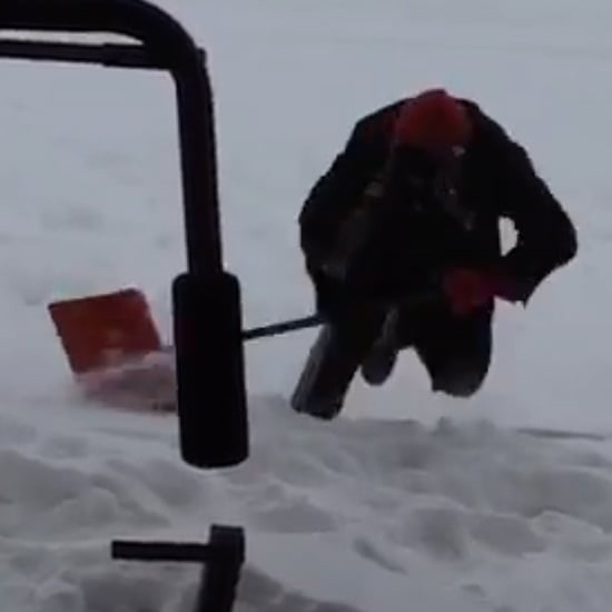 Man Falling in the Snow For Nine Seconds | Video