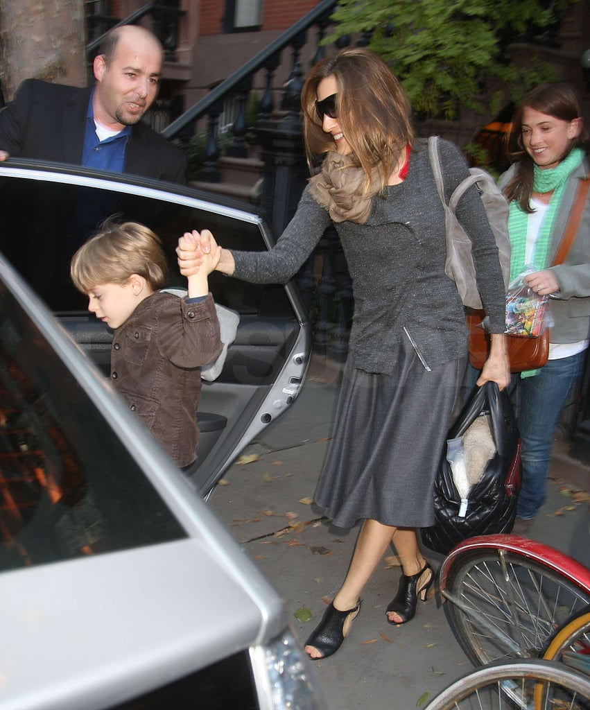 Photos of Sarah Jessica Parker and James Wilkie Going to the Airport