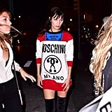 Bella Hadid Moschino Sweater at Kate Upton's Birthday 2016
