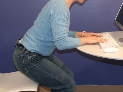 Work it Girl: At Your Desk Squat