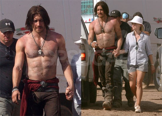 Photos of Jake Gyllenhaal on the Set of Prince of Persia