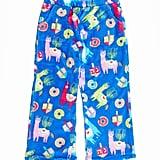 Candy Pink Llamakah Plush Pajama Pants