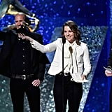 Tim Hanseroth, Brandi Carlile, and Phil Hanseroth
