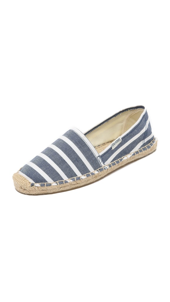 These striped flats would liven up your classically inclined mom's wardrobe. Soludos Classic Striped Espadrilles ($48)