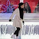 Kate Winslet Ice-Skating on Movie Set Photos February 2016