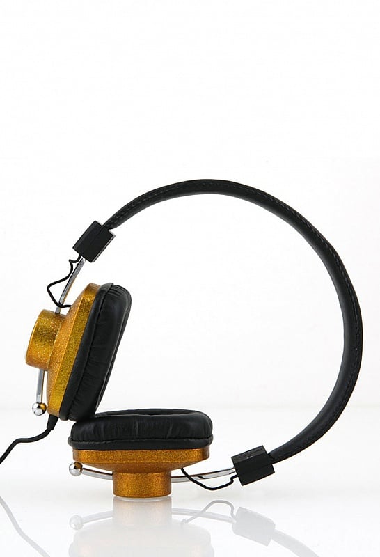 Black and gold headphones for the glamour girl.  Eskuche Control-i Gold Headphones ($65)
