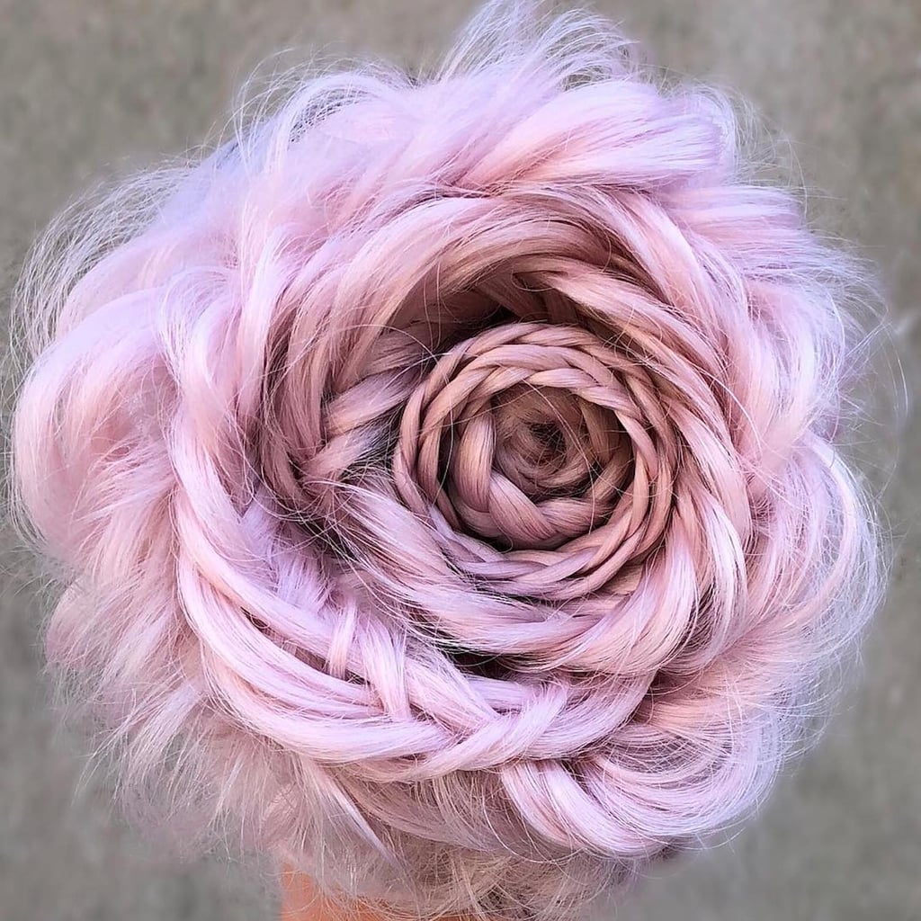Plaited Rose Hairstyle Tutorial and Inspiration