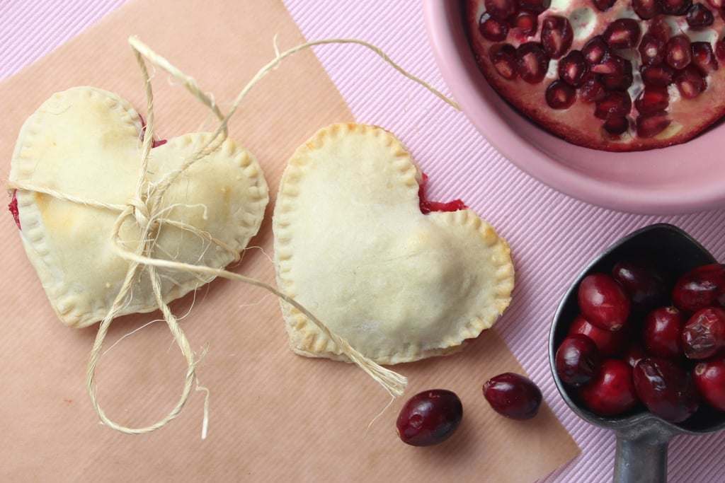 Heart-Shaped Cranberry Pomegranate Mini Pies