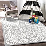 Home Culture Doily Grey White Kids Rug ($119)
