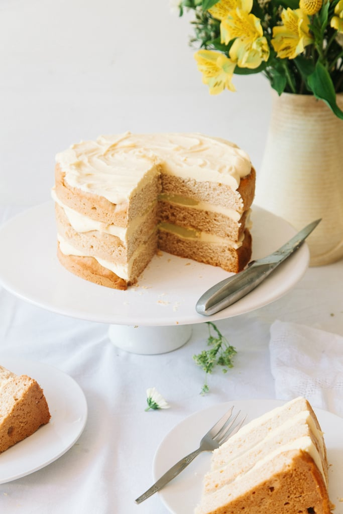 Elderflower Cake With Lemon Curd and White Chocolate Frosting