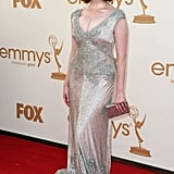 Christina Hendricks took a turn on the red carpet before the 2011 Emmy Awards.