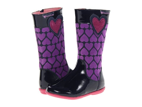 She'll be the most stylish girl in the schoolyard in these black-and-purple printed Agatha Ruiz De La Prada Kids boots ($112).