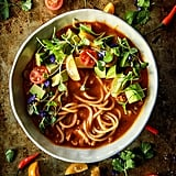 Mexican Chicken Noodle Soup With Avocado