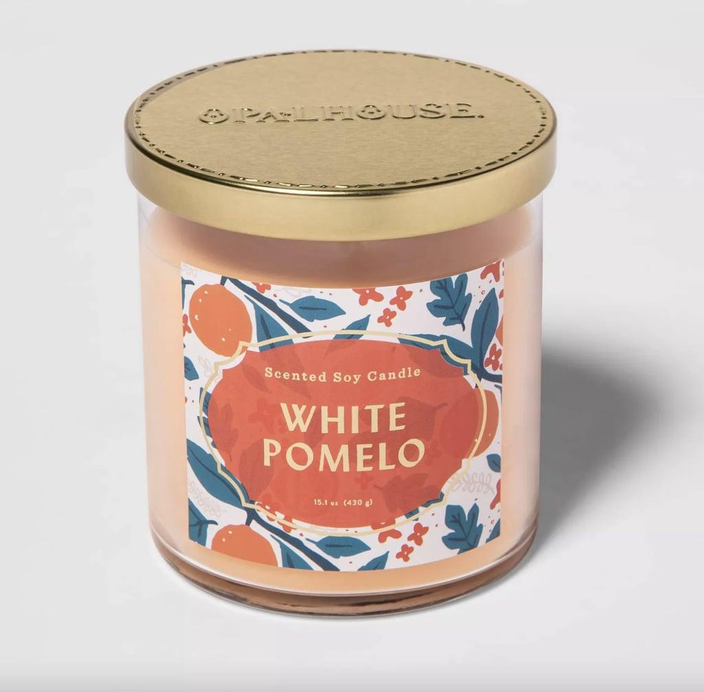 White Pomelo Lidded Glass Jar 2-Wick Candle