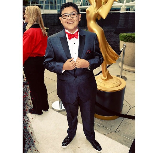 """I've arrived!"" Rico Rodriguez said. The actor donned a tux we could totally see Modern Family's Manny wearing."