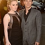 Stephen Moyer and Anna Paquin both looked great as they arrived at the True Blood season premiere.