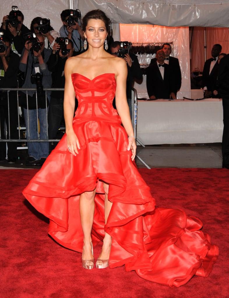 Jessica Biel in Versace at the Met Gala