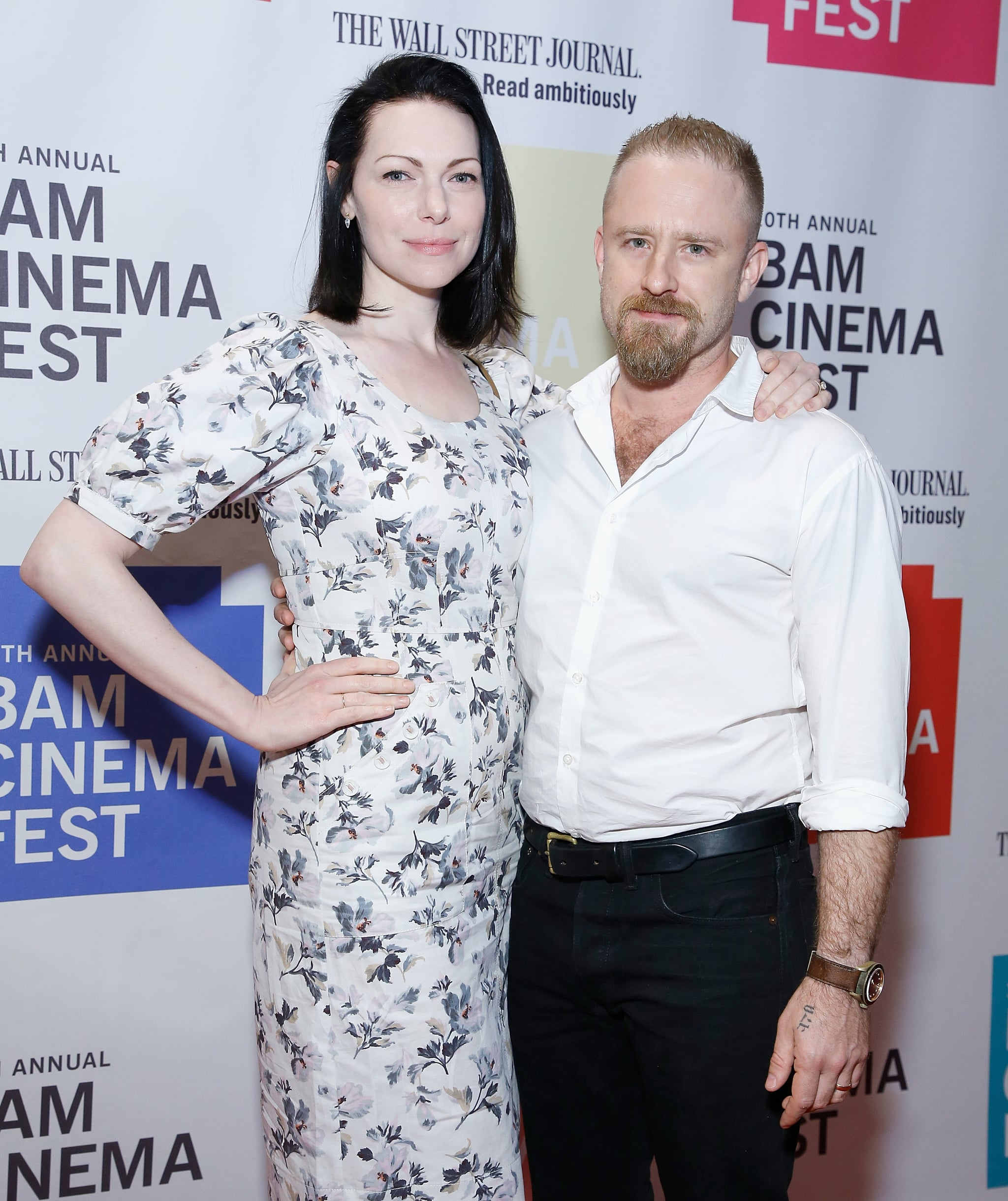 Ben Foster And Laura Prepon At Bam Cinema Fest June 2018 Popsugar Celebrity