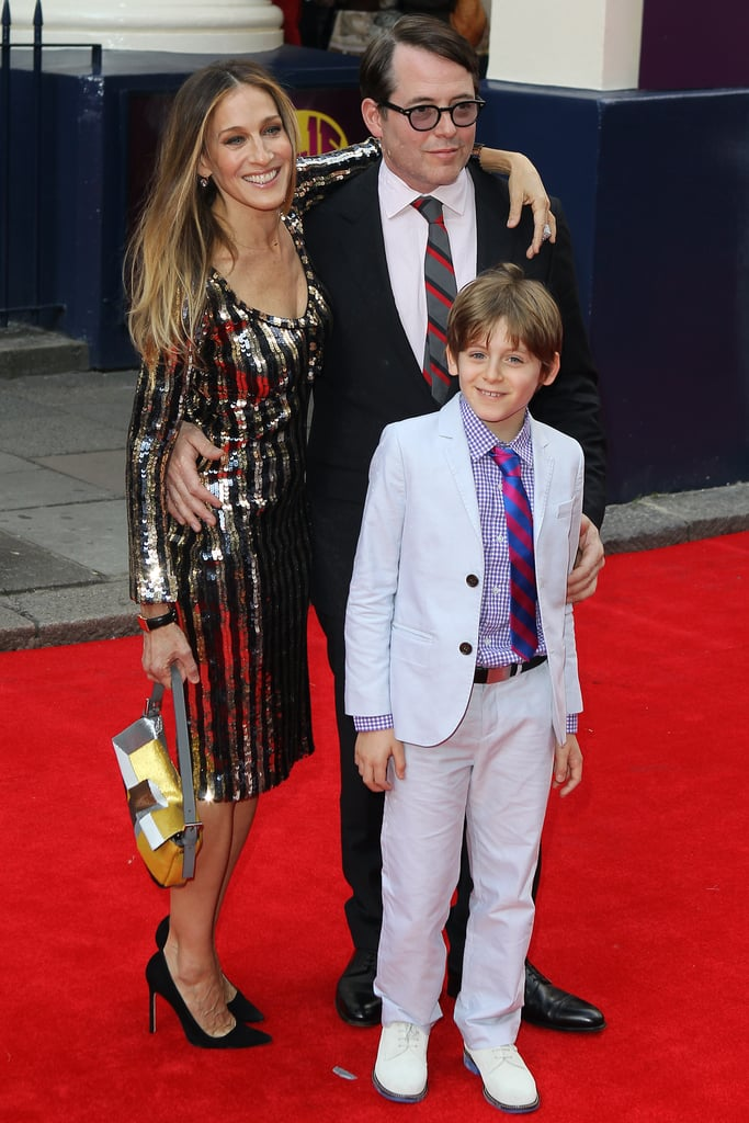 Sarah Jessica Parker, Matthew Broderick and their son, James Wilkie, made an adorable trio at the premiere of Charlie and the Chocolate Factory at London's Theater Royal on Tuesday night. They were also joined by Uma Thurman, Matthew Morrison, and director Sam Mendes, who staged the musical as a re-interpretation of the beloved children's book. Sarah Jessica wore a sequinned Marc Jacobs dress for the occasion and had her arm around her husband as they made their way down the red carpet. How cute was James in his little suit? Aside from her red carpet arrival in the UK, Sarah Jessica has been sticking close to her NYC base since attending Met Gala in May. She announced that she'll be designing an exclusive collection of shoes and bags with Manolo Blahnik and was recently chosen as chairwoman for the New York City Ballet's annual Fall gala in September. She also had twice the celebration last weekend when her twin daughters, Tabitha and Loretta, turned 4.