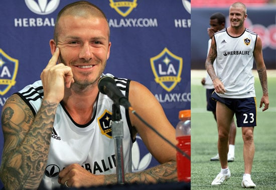 Photos of David Beckham at the NY Red Bulls - LA Galaxy Match in New Jersey