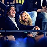 Mike and Carrie cracked up during a 2013 award show in Nashville.