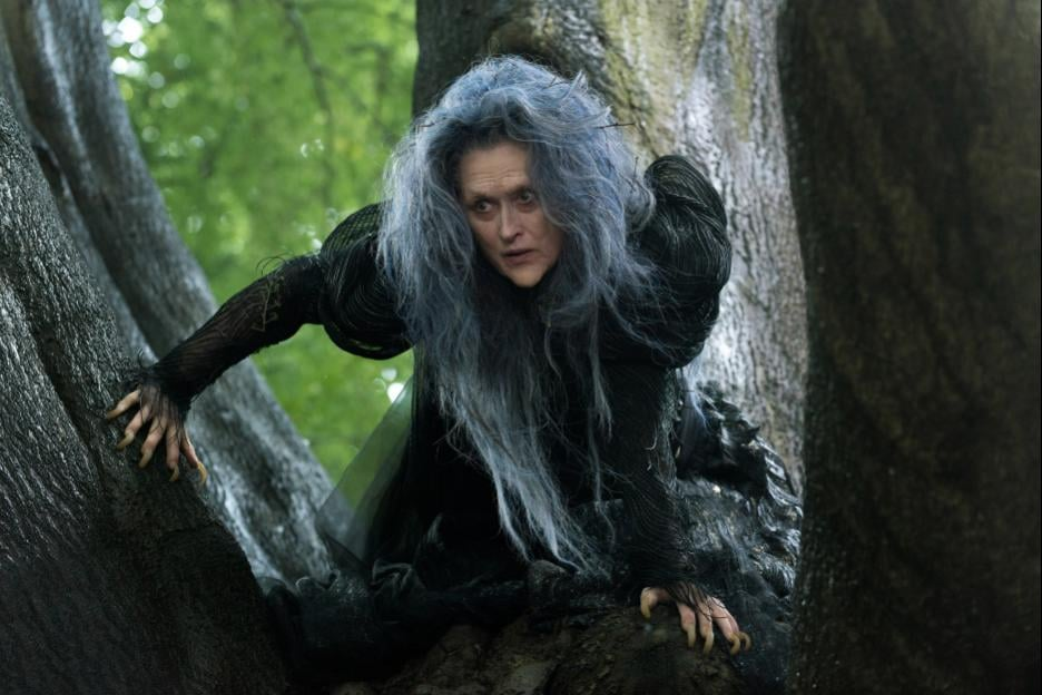 Meryl Streep as the Witch.