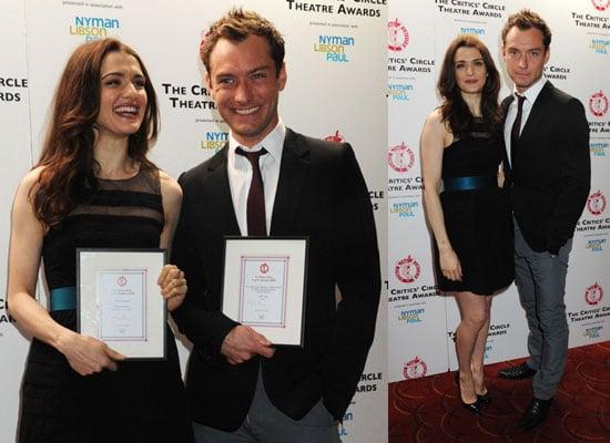 Photos of Jude Law and Rachel Weisz at 2010 Critics Circle Theatre Awards