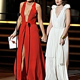 Blake Lively and Leighton Meester at the 2009 Emmy Awards
