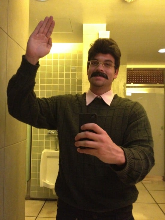 Mark Salling dressed up as Ned Flanders for Halloween. Source: Twitter user MarkSalling