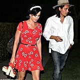 Katy Perry and John Mayer left a party together.