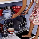 Make it easier to find what you need in deep cabinets by installing these metal cabinet drawers.