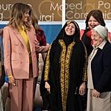 Melania Trump Wearing Light Pink Suit