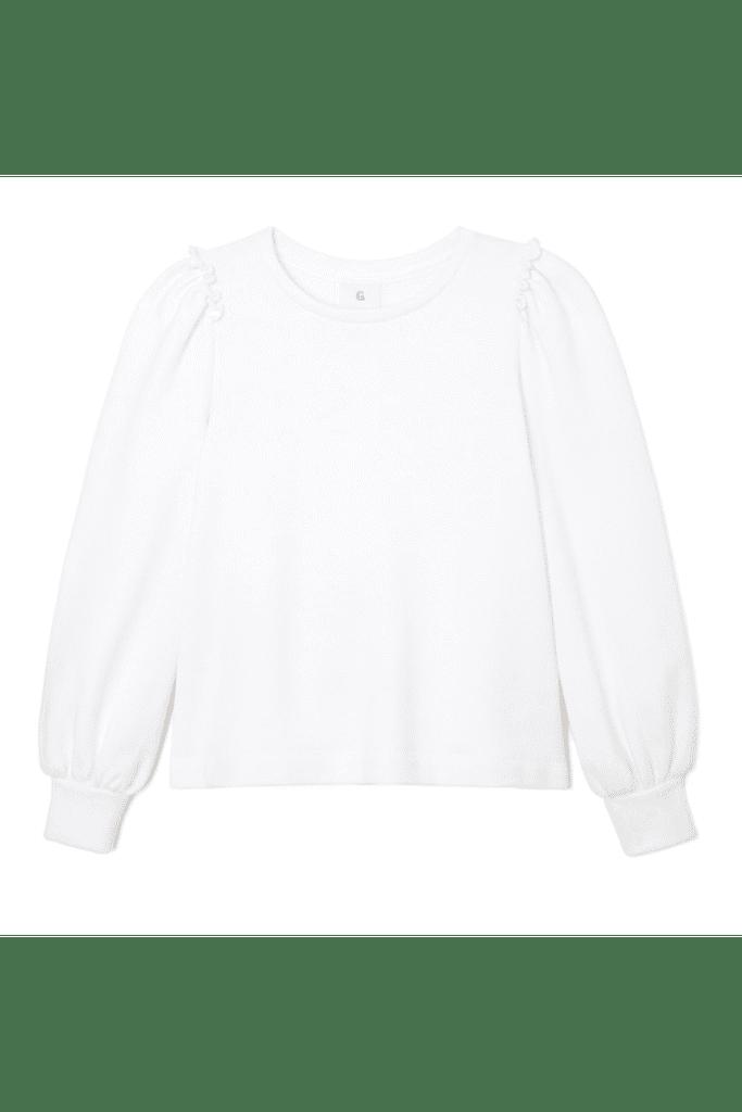 Goop G. Label Puff-Sleeve Sweatshirt