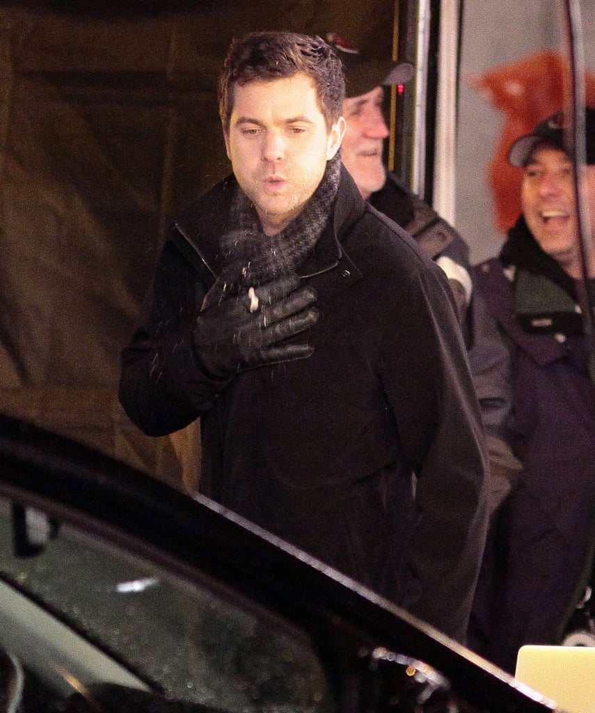 Joshua Jackson Spends a Cold Night Up North Shooting Fringe